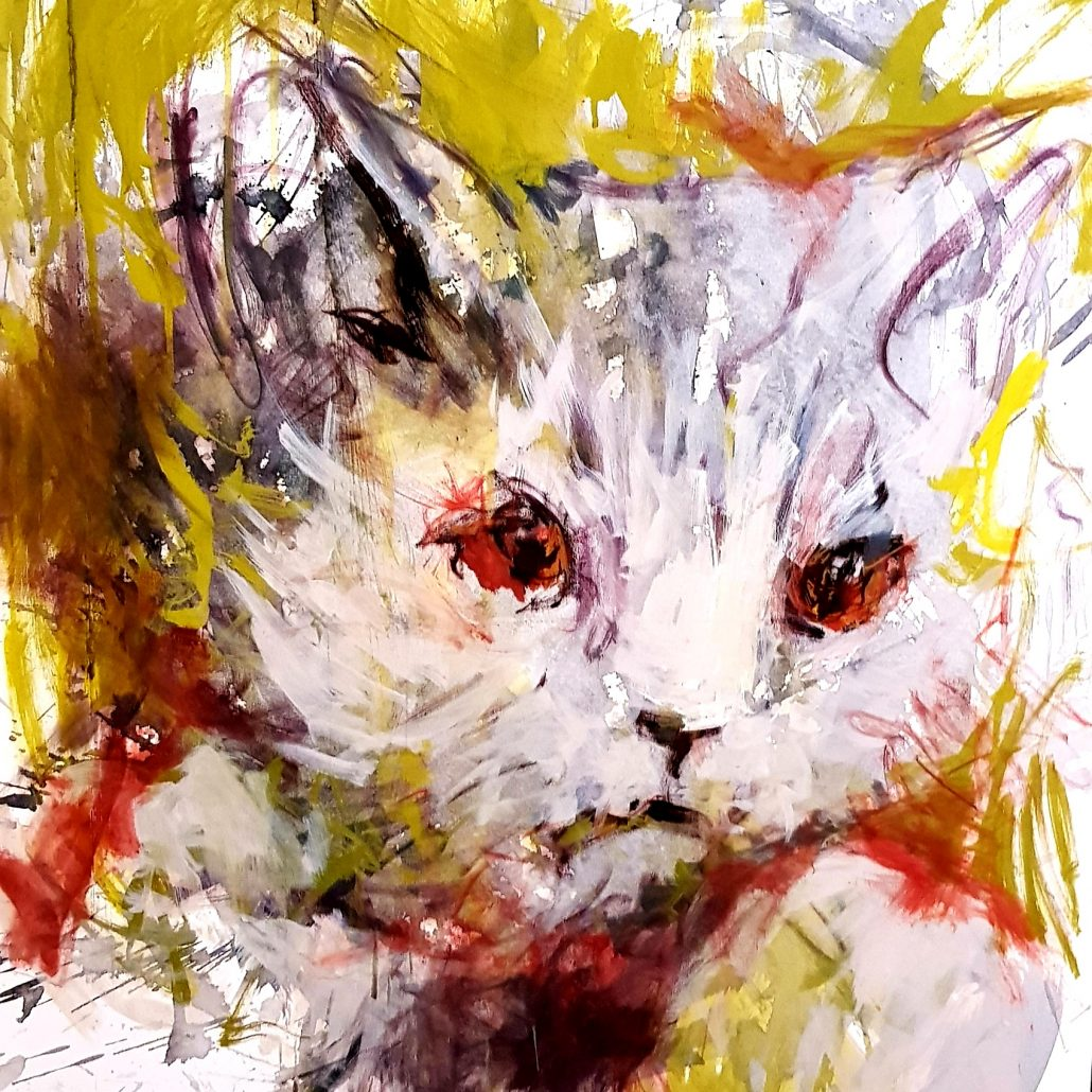 PAINTING OF A CAT - BRITISH SHORTHAIR